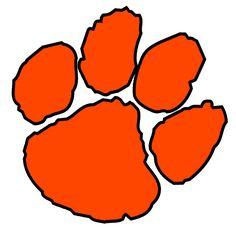 official clemson paw decal multiple colors clemson tiger paw rh pinterest com