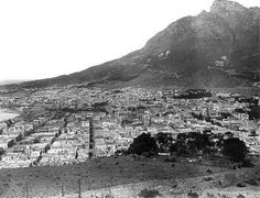 Cape Town and Devil's Peak from Signal Hill 1899 Old Pictures, Old Photos, Cities In Africa, Signal Hill, Most Beautiful Cities, My Land, Historical Pictures, Woodstock, Cape Town