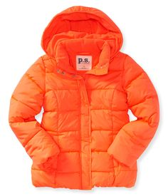 Kids' Hooded Mid Length Puffer Jacket - PS From Aeropostale