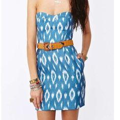 Dolce Vita Strapless Ikat Dress