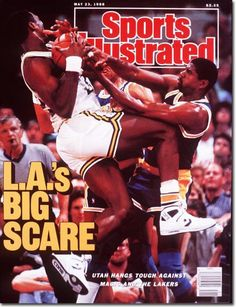 Sports Illustrated Magazine May 23 1988 LA Lakers Magic Johnson Cover Back Issue Sports Illustrated Nba, Magic Johnson Lakers, Showtime Lakers, Si Cover, Karl Malone, I Love Basketball, Sports Magazine, Utah Jazz, Los Angeles Lakers