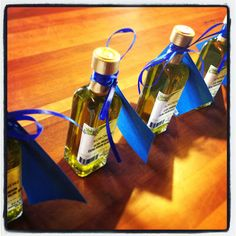 Fetching Fun Olive Oil Favors for Greek Themed Party