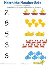 Match the Numbers at the Beach -- Develop number recognition and practice counting with this printable. Numbers Preschool, Preschool Printables, Preschool Worksheets, Preschool Activities, Number Activities, First Year Teachers, New Teachers, Teacher Worksheets, Teacher Resources