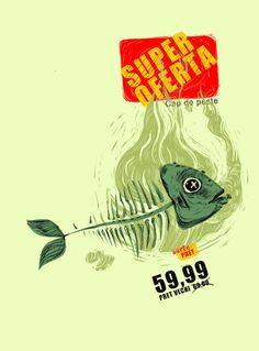'Supermarket crisis!!' by Nicolae Negura on artflakes.com as poster or art print $16.63