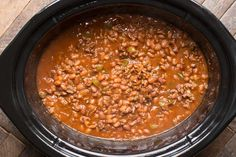 Slow Cooker Land Your Man Baked Beans is the Vintage recipe of the month!