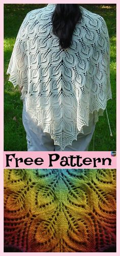 28 Ideas knitting patterns lace shawl for 2019 Lace Knitting Patterns, Shawl Patterns, Knitting Designs, Crochet Lace, Free Crochet, Crochet Scarfs, Crochet Ideas, Easy Knitting, Free Pattern