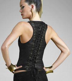 Gelareh Designs Long Snap Vest