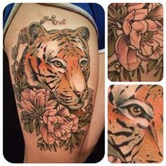 This gorgeous tiger. | 33 Amazing Tattoos For The Animal Lover In You