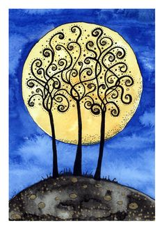 Trees By Moonlight - Ruthie Redden