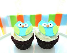 Owl cupcakes for favors