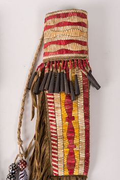 """Northern Plains Quilled Knife Case and Knife, 13"""" long - Auction in Santa Fe"""