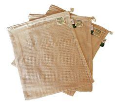 Organic Cotton Reusable Mesh Produce Bag : Another cotton option