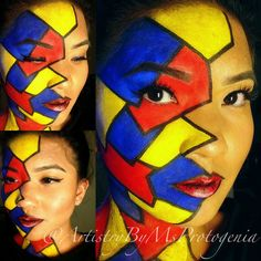 abstract face paint - Google Search