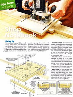 DIY Router Fluting Jig - Woodworking Tips and Techniques | WoodArchivist.com