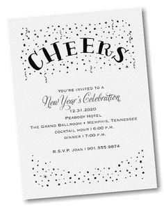 Confetti Cheers Party Invitation
