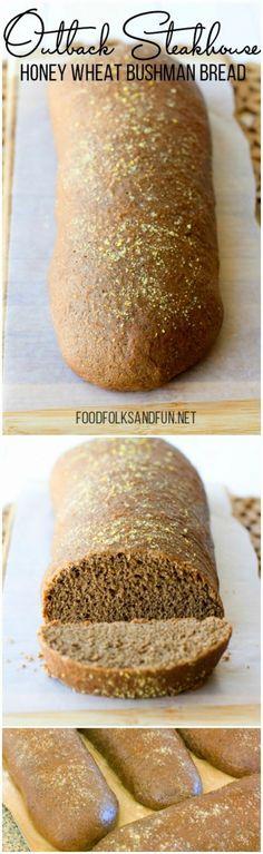 Outback Steakhouse Honey Wheat Bushman Bread Recipe #recipe