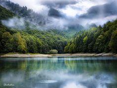 The cold lake by Shchukin