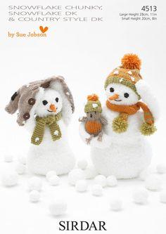 Sirdar Pattern 4513: Snowmen in Chunky & DK