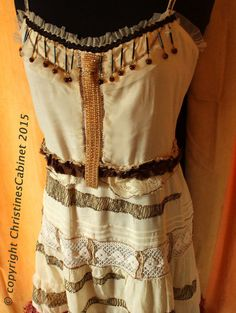 bohemian princess gypsy dress  upcycled by ChristinesCabinet