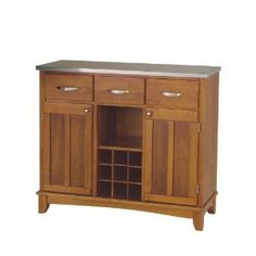 Sideboard #Home Styles 5100-0063 Stainless Steel Top Buffet Server, Cottage Oak Finish, 41-3/4-Inch