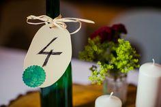 Tischnummer für die Hochzeit - rustikale Tischdeko