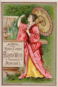 Murray /& Lanman/'s Florida Water Advert Vintage Retro Style Metal Sign Plaque
