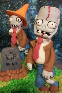 - Plants vs. Zombies Cake Close up of the Zombies