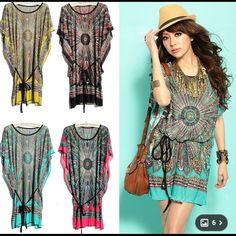 2f859d9c359 2014 NEW Fashion Women s Summer Vintage Bohemian Stylish Plus Size Ice Silk  Sundress Ladies Girls Casual Beach Skirts