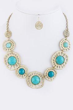 DivaByDzine - Aqua Wheel Necklace Set, $12.00 (http://www.divabydzine.com/aqua-wheel-necklace-set/)