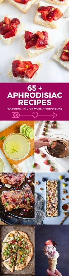 This list of 65+ Aphrodisiac Recipes featuring two or more aphrodisiacs will help you set the mood for an anniversary, date night, or Valentine's Day! #aphrodisiac #ValentinesDay #roundup #dinner #breakfast #snacks #appetizers #oysters   pomegranate   oyster   cardamom   chocolate recipes   avocado recipes   cinnamon   aphrodisiac for women   aphrodisiac for men   strawberry   valentines day food for him   valentines day food for her   via @foodabovegold