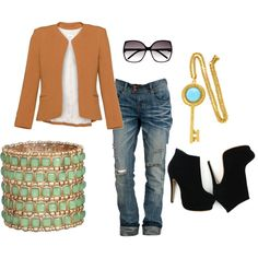 Jean Outfit, created by michellepulkownik on Polyvore