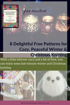 With a little leftover yarn and a bit of time, you can enjoy some last-minute winter and Christmas knitting ... Read More about  8 Delightful Free Patterns for Cozy, Peaceful Winter Love Knitting Patterns, Knitting For Charity, Christmas Knitting, Winter Christmas, Knitting Yarn, Free Pattern, Cozy, Sewing Patterns Free
