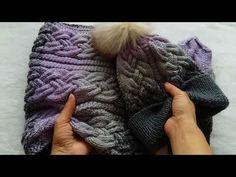 """Вяжем детский снуд с объемными косами из 18 петель / в комплект к шапочке """"Alexis"""" - YouTube"""