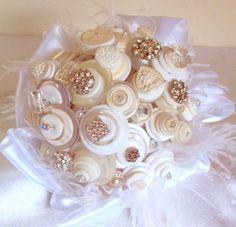 Alternative Button Bridal Bouquets by Angela's Artistic Designs