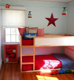 Amazing Beachy And Whimsical Surfboy Bedroom   Low Bunk Beds, Bunk Bed And Note