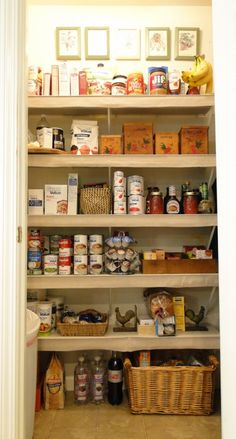 Salvage Savvy: Today I'm Salvaging... My Pantry  I am going to do this to my closet.