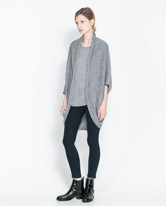 WRAPAROUND CARDIGAN - Knitwear - Woman   ZARA United States