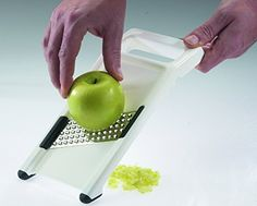 """Westmark Made In Germany """"Famos"""" Hand Held Rubber Bottom Vegetable and Fruit Grater With Stainless Steel Blade"""