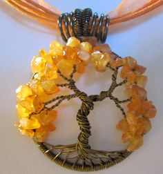 The Leaves are Turning Tree of Life Pendant by Mariesinspiredwire, $25.00