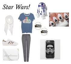 """""""Star Wars!"""" by happy-geek7 ❤ liked on Polyvore featuring Junk Food Clothing, Calvin Klein, adidas Originals, Pink Tartan and Tory Burch"""