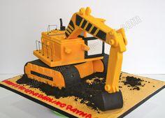 Celebrate with Cake!: Excavator Cake