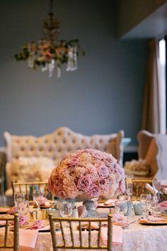 A Romantic Blush, Mint and Gold Wedding Mint Gold Weddings, Reception, Blush, Romantic, Table Decorations, Detail, Floral, Home Decor, Decoration Home