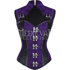 Gothic Purple Brocade High Back Clasp Overbust Corset ($86) ❤ liked on Polyvore featuring jewelry, charm jewelry, clasp charms, gothic jewelry, purple jewelry and purple jewellery