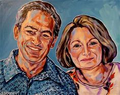 """""""Kafka's Grandparents"""" 16x20"""" acrylic on canvas"""