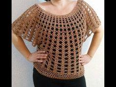 Blusa de Verano y Abanicos a Crochet - YouTube