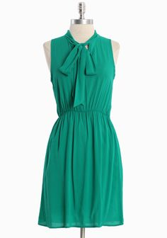 Lois Lane Necktie Dress Effortless and sophisticated, this softly textured green dress is finished with a fully elasticized waistline and classic tie at the neck. Partially lined. Rayon, Made in USA, length from top of shoulder Pretty Outfits, Chic Outfits, Grad Dresses, Summer Dresses, Dress Skirt, Tie Dress, Modest Fashion, Indian Outfits, Green Dress
