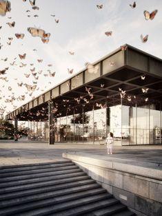 Ludwig #MiesvanderRohe. Neue #Nationalgalerie. #Berlin. Germany. Architectural visualisation © Stefan Hirschsteiner