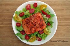 Gourmet Girl Cooks: Salad w/ Pan Seared Copper River Wild Salmon