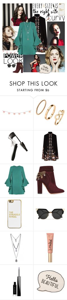 """Curvy curves"" by helenawayne ❤ liked on Polyvore featuring Jennifer Lopez, H&M, Lancôme, Vilshenko, Aquazzura, BaubleBar, Fendi, Too Faced Cosmetics, Givenchy and powerlook"