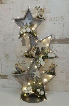 Outdoor Christmas Decorations, Christmas Centerpieces, Rustic Christmas, Christmas Time, Christmas Ornaments, Decor Crafts, Holiday Crafts, Holiday Decor, Home Decor